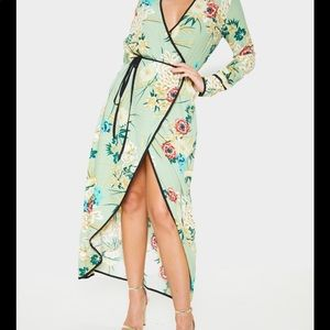 Beautiful Asian inspired wrap dress